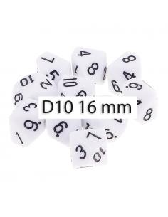 DADO. 10 CARAS WHITE GREY