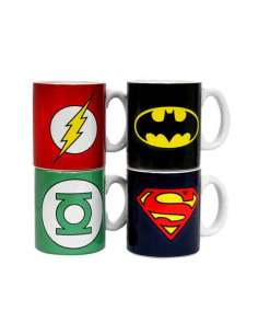 DC COMICS. SET 4 MINI TAZAS...