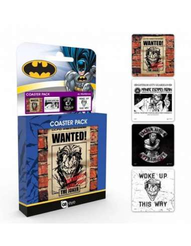 BATMAN. PACK 4 POSAVASOS JOKER